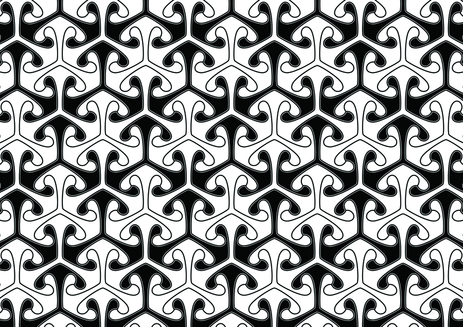 Your Wallpaper   Oldsj Hultgren Design   Clover   Clover black 900x636