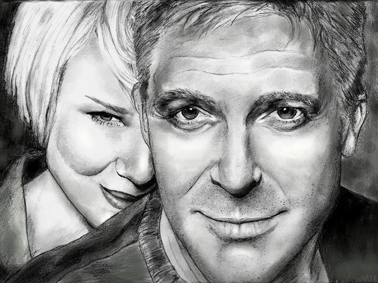 Photo George Clooney with Renee Zellweger Celebrities 1280x959