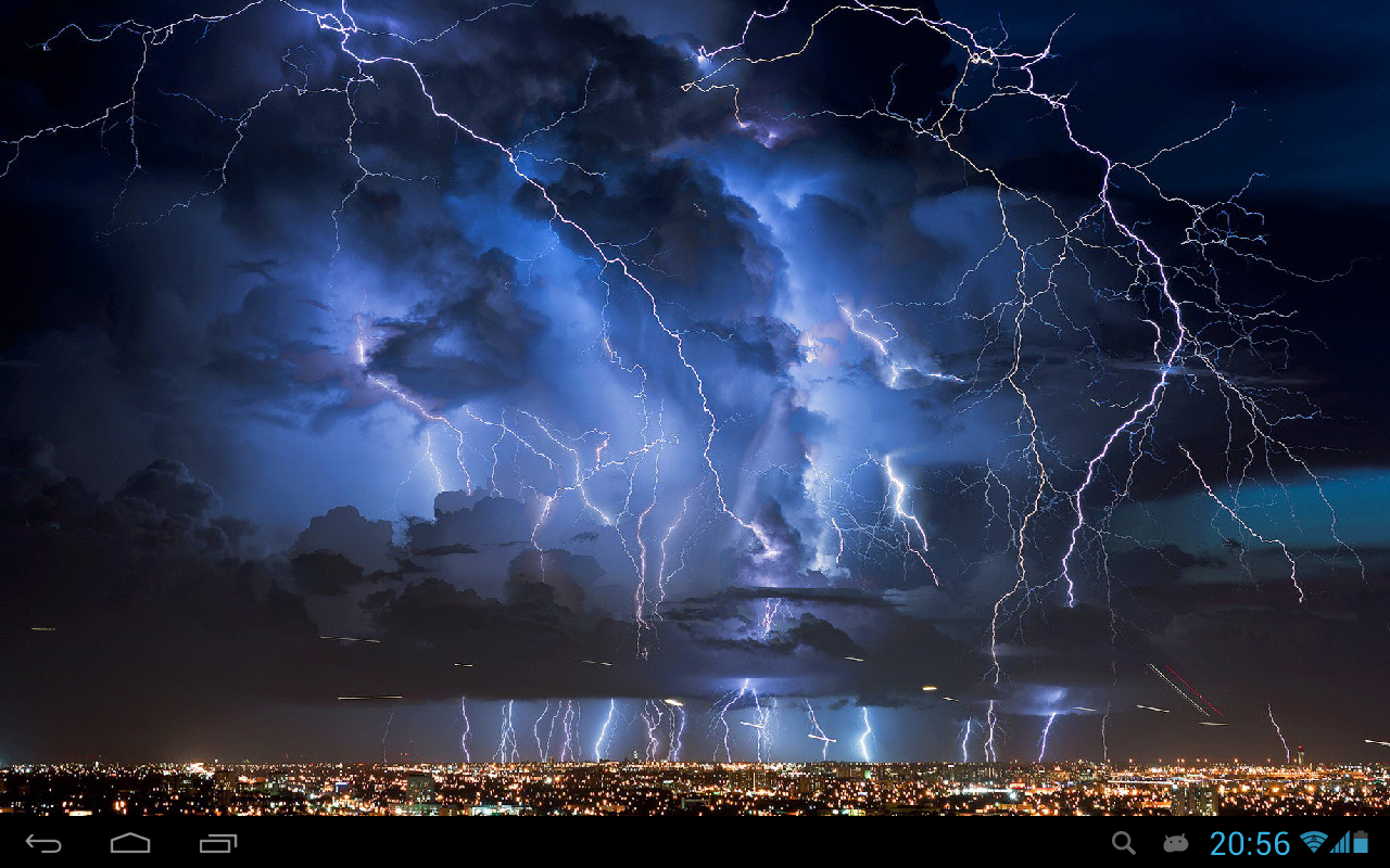 Thunderstorm live wallpaper   screenshot 1280x800