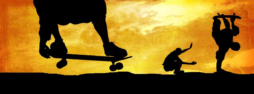Skateboarding Facebook Covers for Timeline Cool Skateboard 850x315