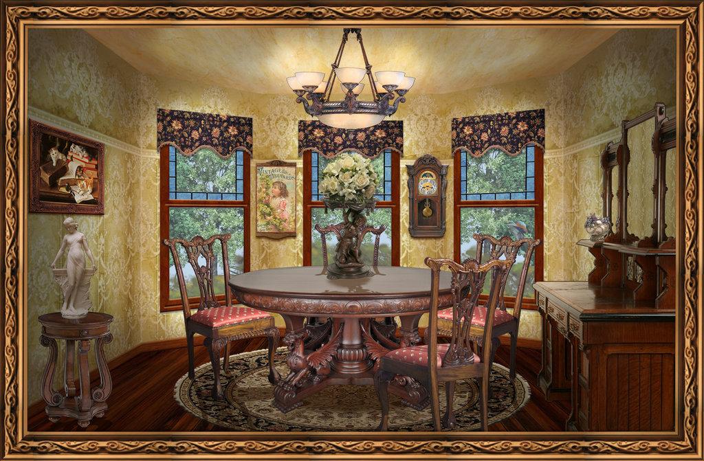 45 Victorian Dining Room Wallpaper On Wallpapersafari