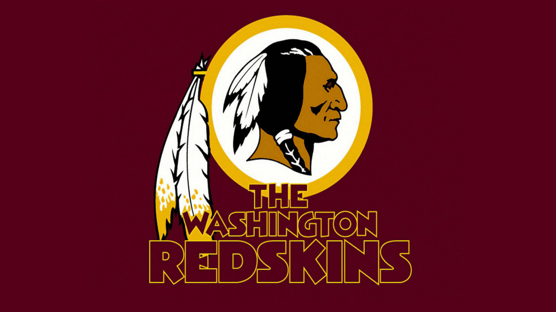 redskins logo red background high resolution hd widescreen wallpaper 1920x1080