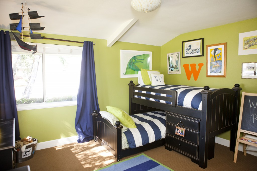 Beachy and Whimsical Surfboy Bedroom by Anthology Interiors 1024x682