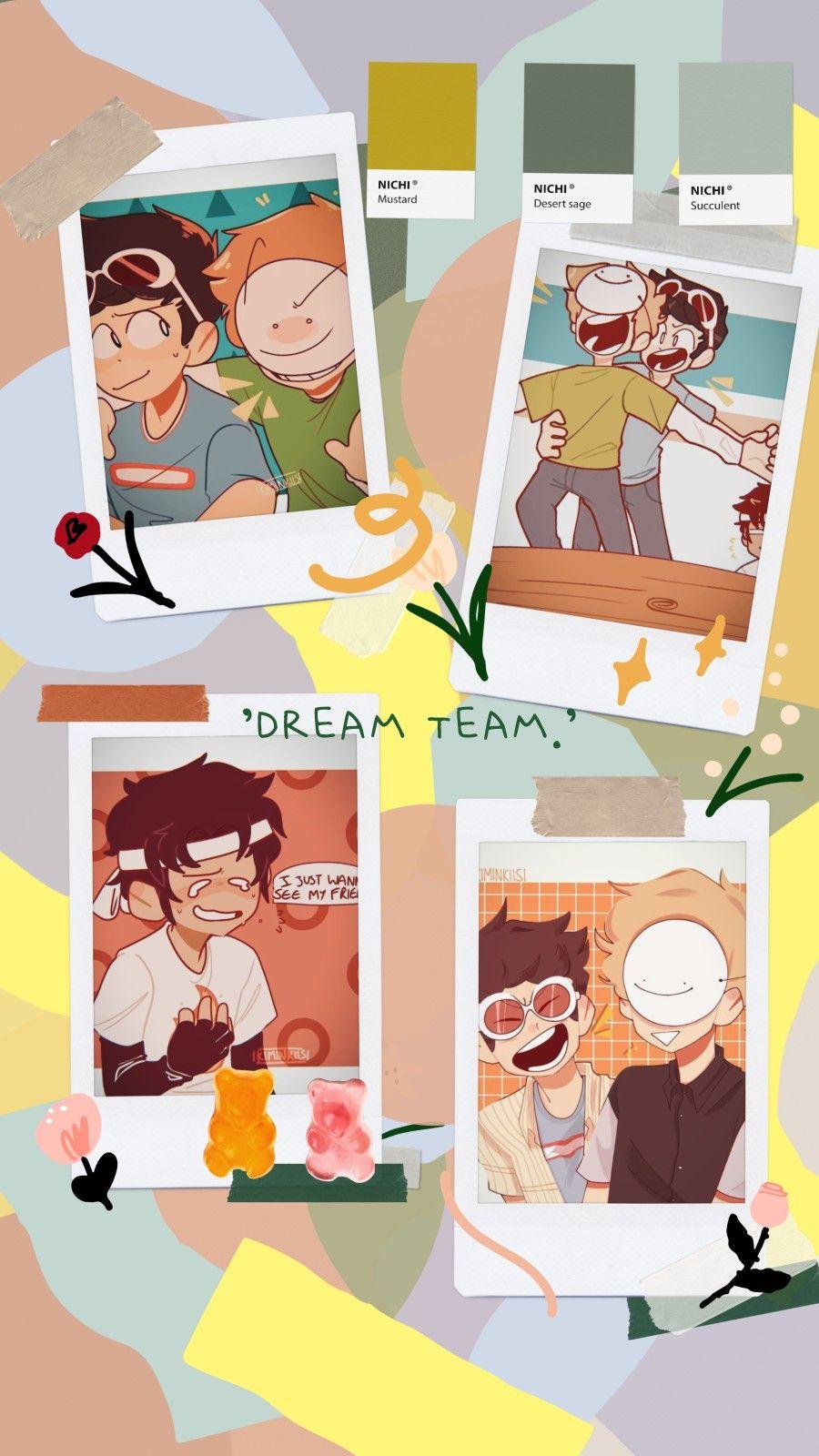 dream sapnap georgenotfound dream team wallpaper lockscreen in 900x1600