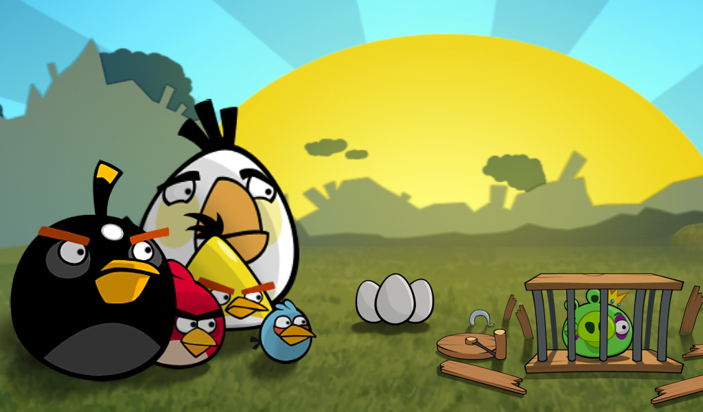 Angry Birds Game Wallpaper Gallery My image 1024x600