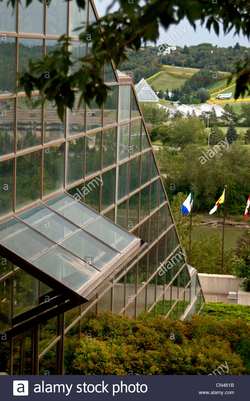 Shaw Conference Center with Muttart Conservatory in the background 868x1390
