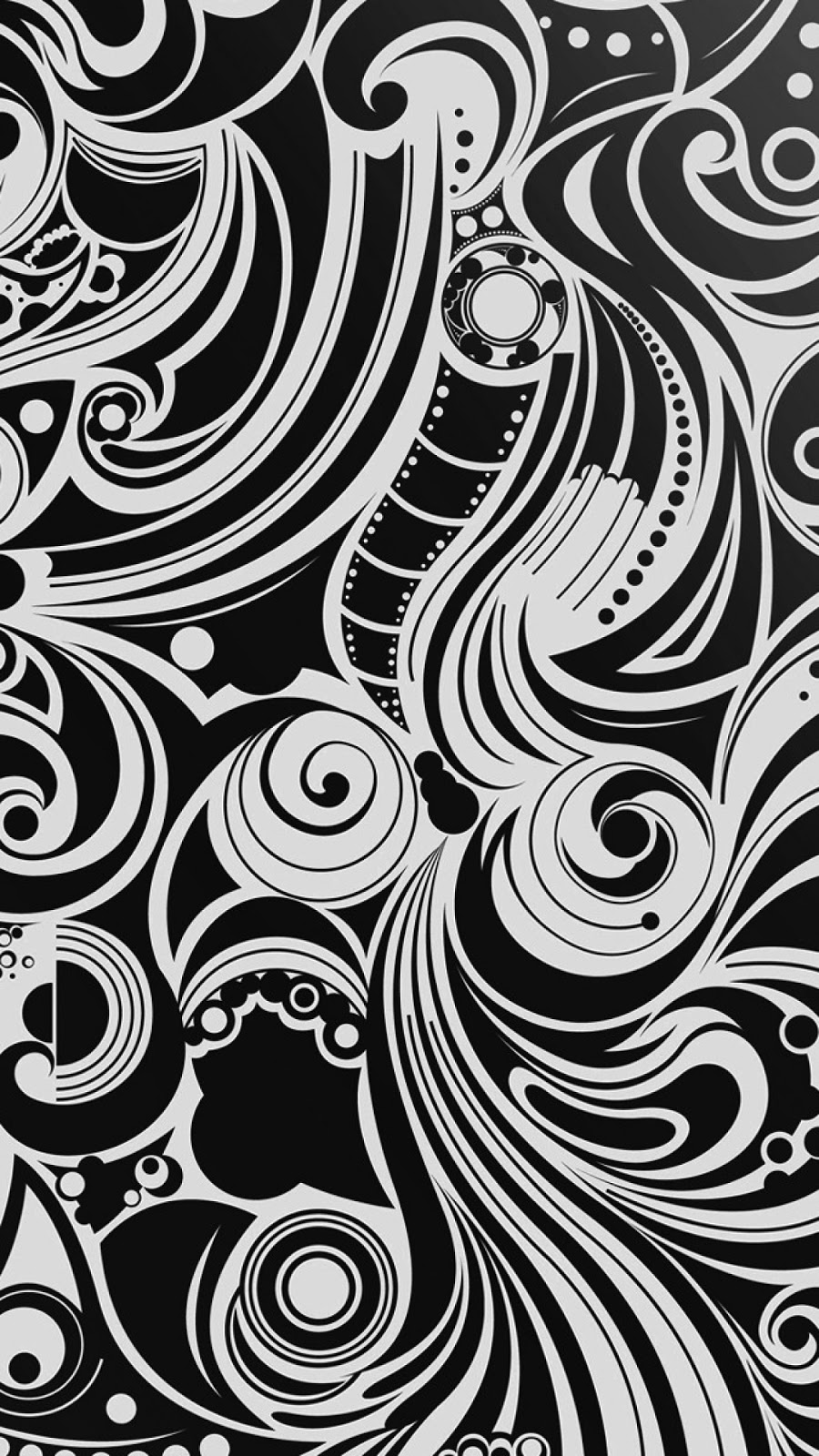 Android Wallpaper Black And White Spiral Pattern 900x1600