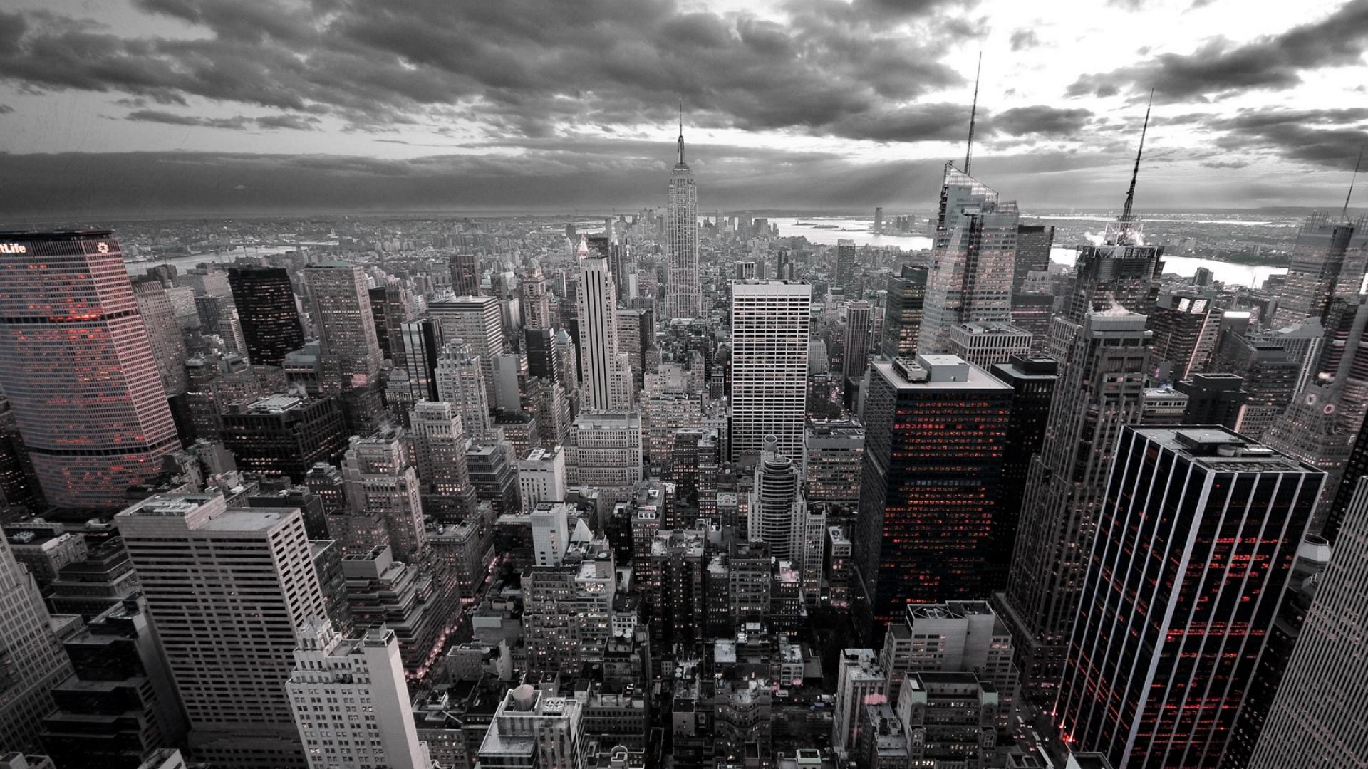 New York City Black and White HD Wallpaper of City   hdwallpaper2013 1920x1080