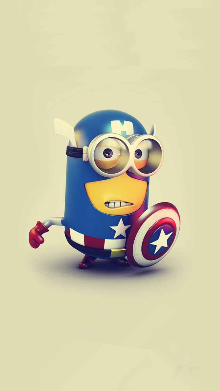 American captain minion iphone 6 wallpaper Despicable Me   iphone 750x1334