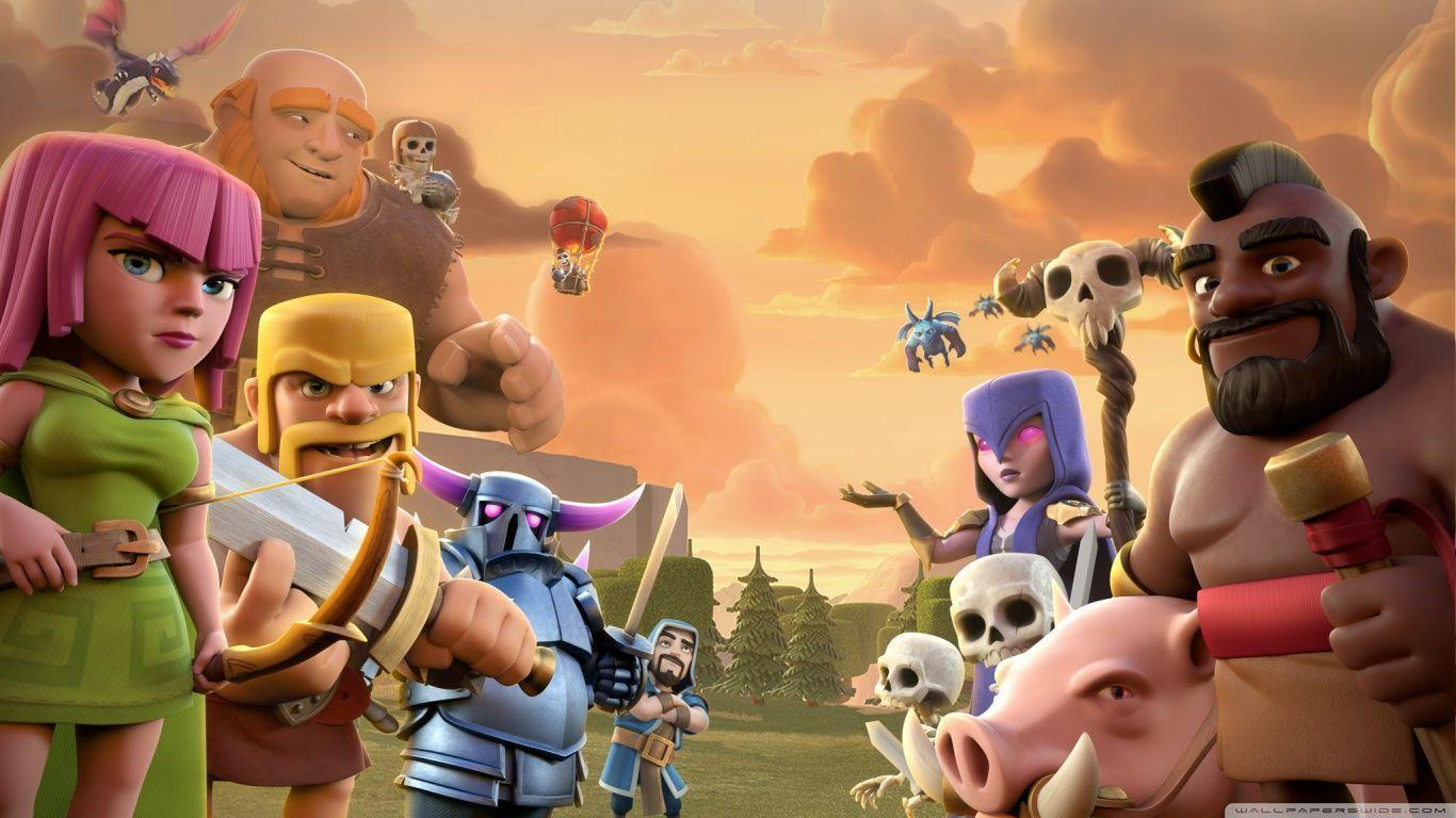 Clash Of Clans Wallpapers 1366x768