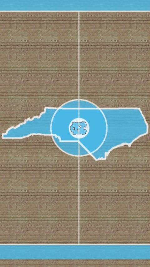 Live Wallpaper displays University of North Carolina Tarheels 480x854