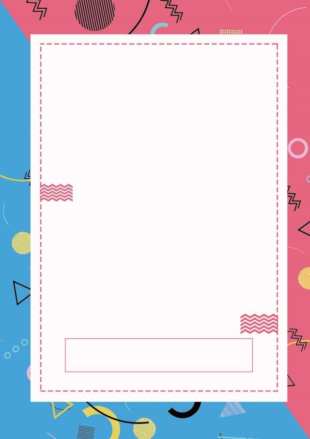 Colorful Memphis Irregular Geometry Pamphlet design Background 640x906