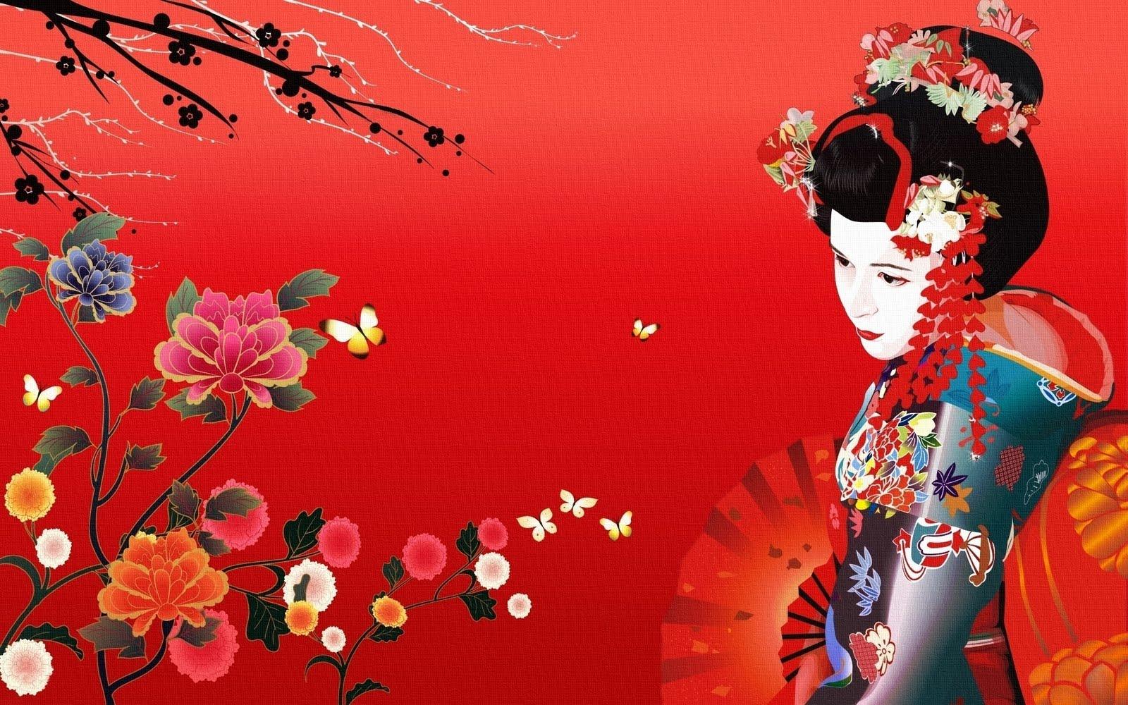 geisha illustration wallpaper maiko geisha wallpaper geisha wallpaper 1600x1000
