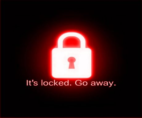 Download Its Locked Go Away wallpapers to your cell phone 460x383
