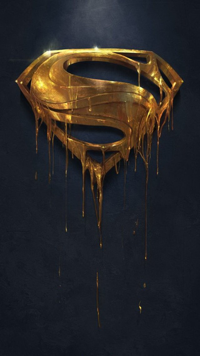 Gold Superman Logo Wallpaper   iPhone Wallpapers 640x1136
