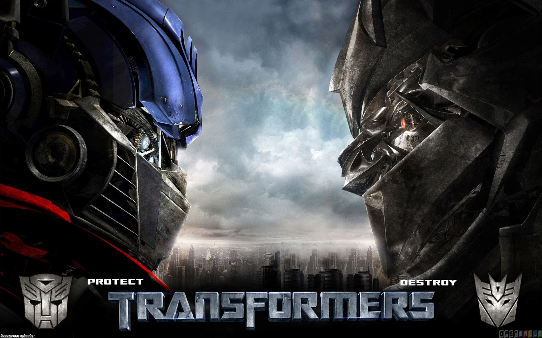 Transformers autobot vs decepticons wallpaper 15508   Open Walls 1900x1188