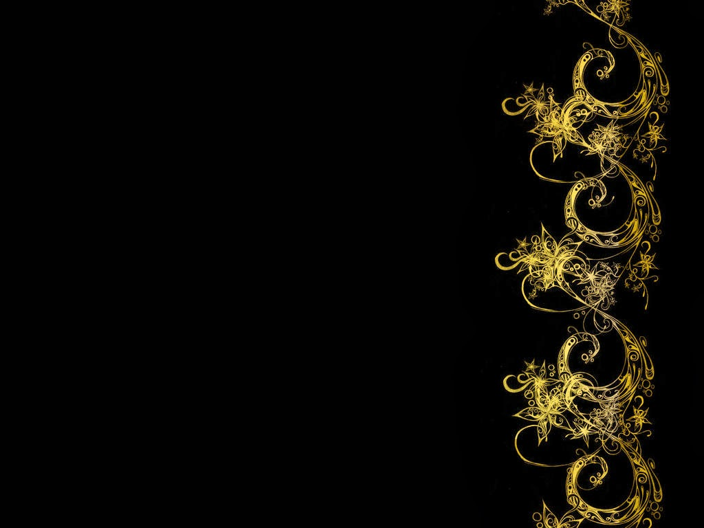 Black And Gold Wallpaper Design Wallpaper black and gold 1024x768