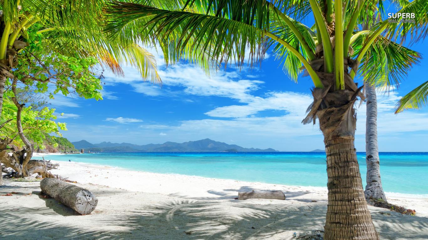 Tropical Beach Scenes Cool 1366x768