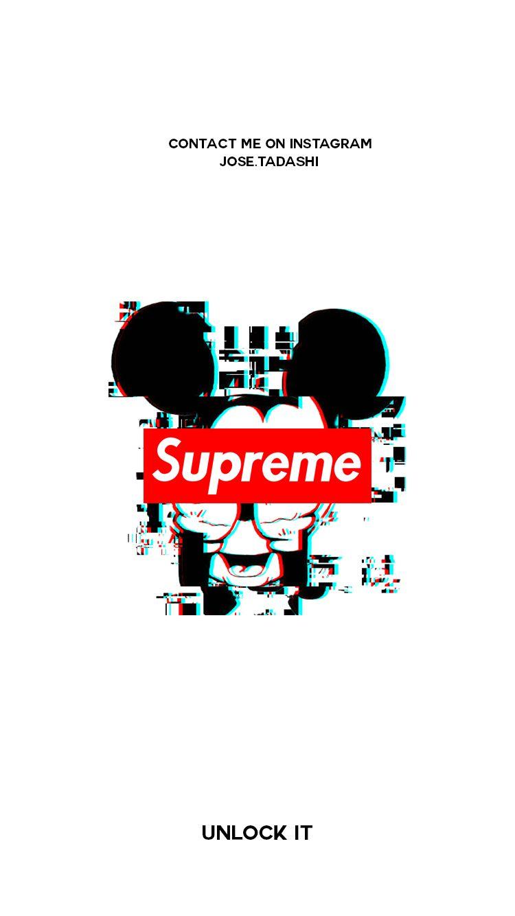 Supreme Wallpaper   Iphone Wallpaper Supreme Mickey Mouse 750x1334