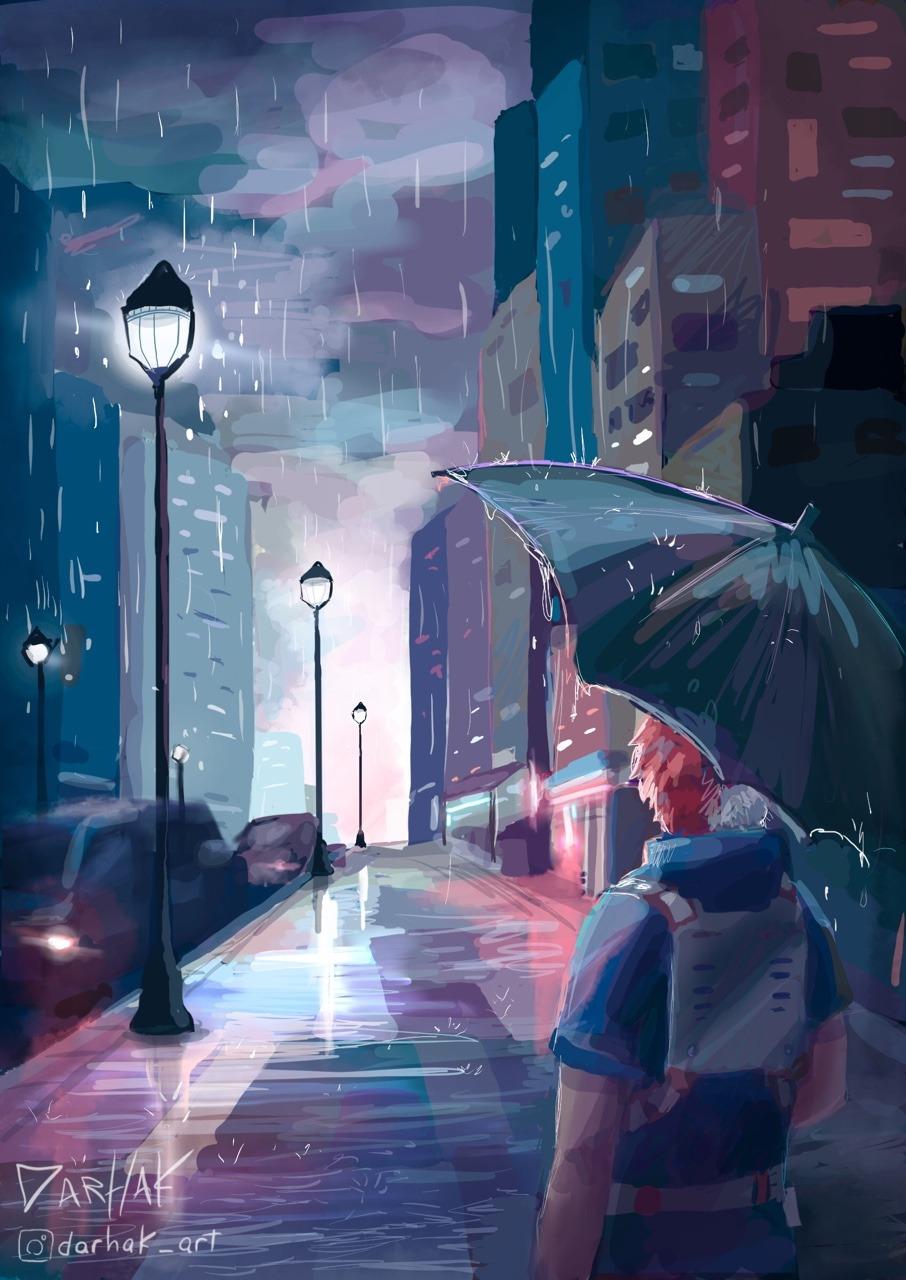 Image   Rain Aesthetic Art   906x1280 Wallpaper   teahubio