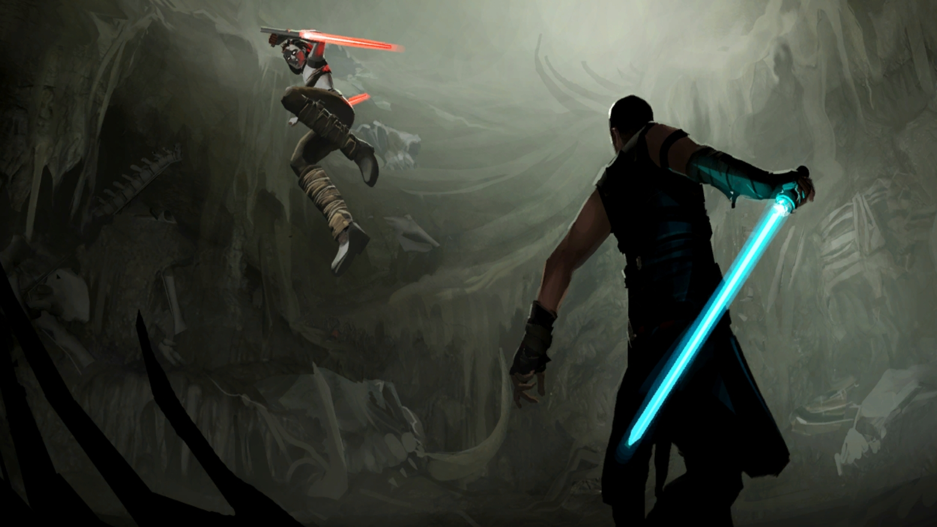 Star wars sith jedi battle swords wallpaper   ForWallpapercom 1920x1080