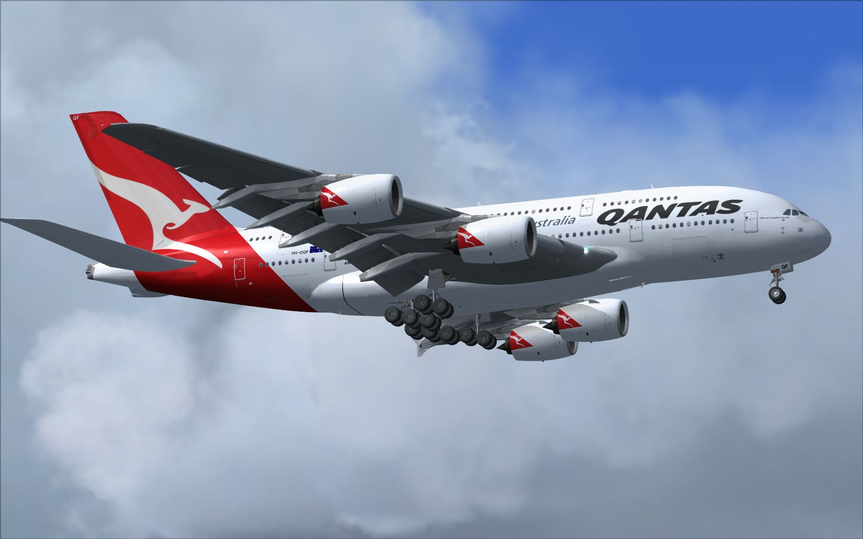 Free download Airbus A380 Qantas Wallpaper Qantas Airbus A380 in Fsx