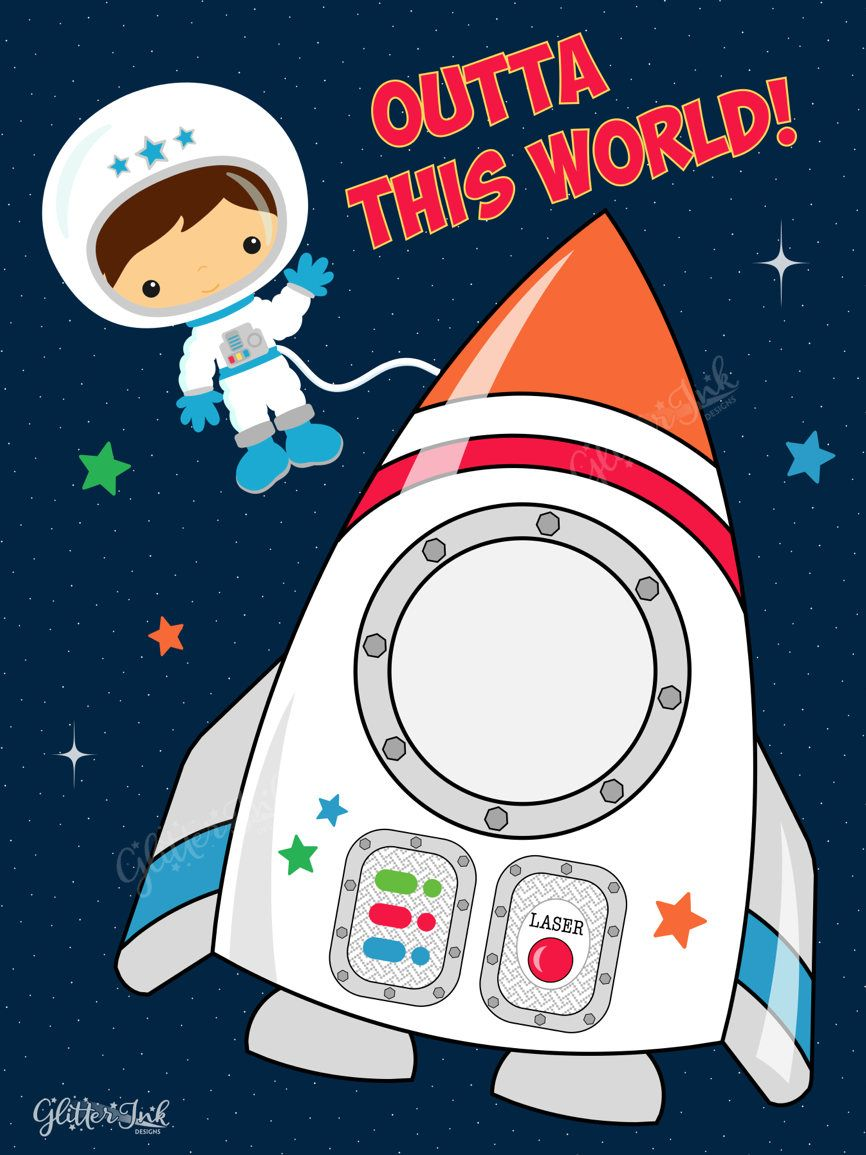 astronaut party printables - 736×981
