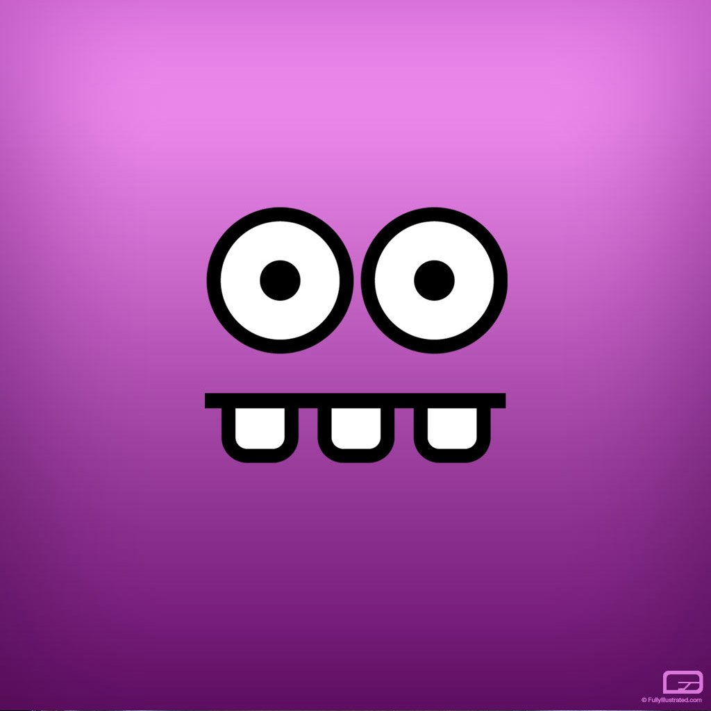 Funny face ipad wallpaper to download 1024x1024
