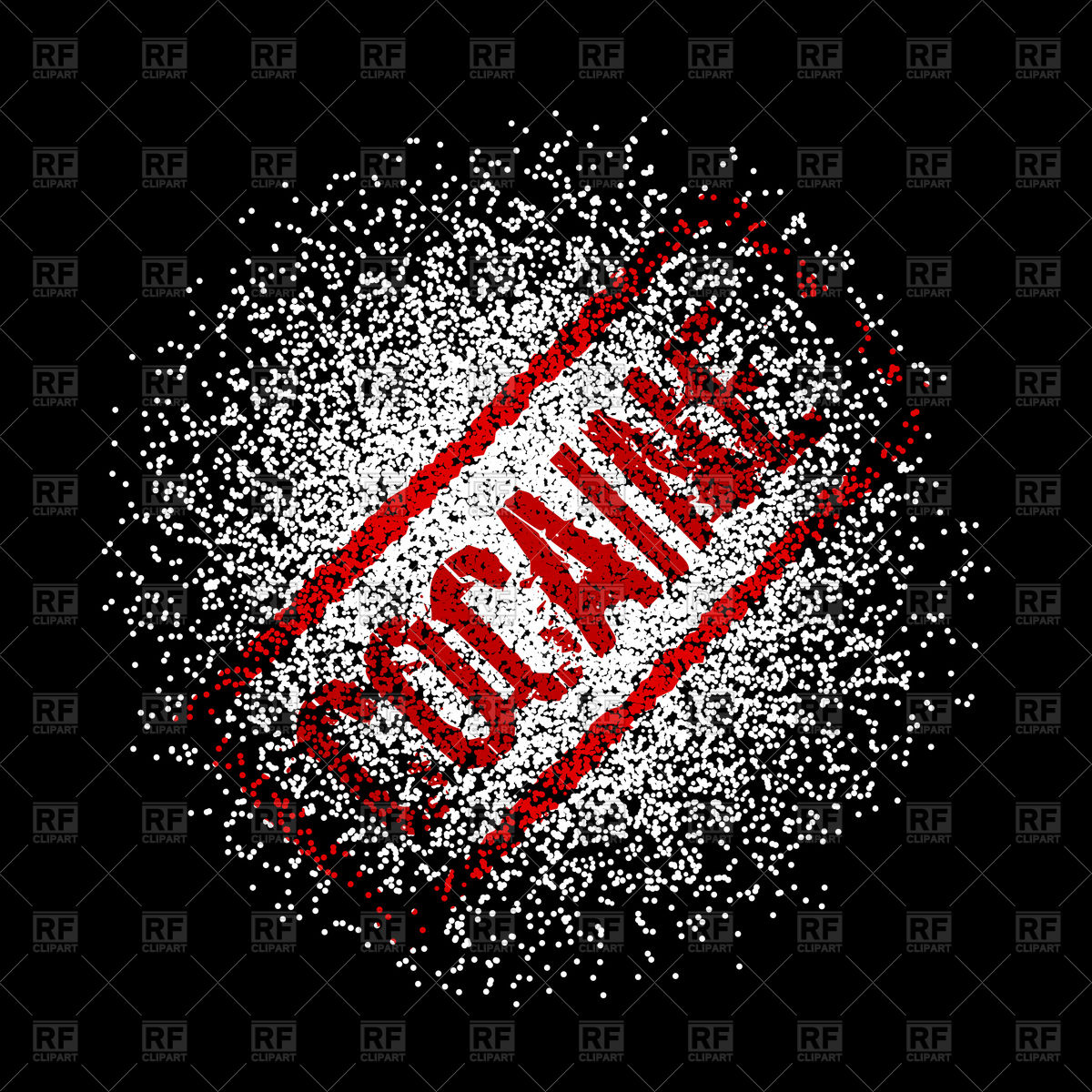 Cocaine on black background Vector Image 151180 RFclipart 1200x1200