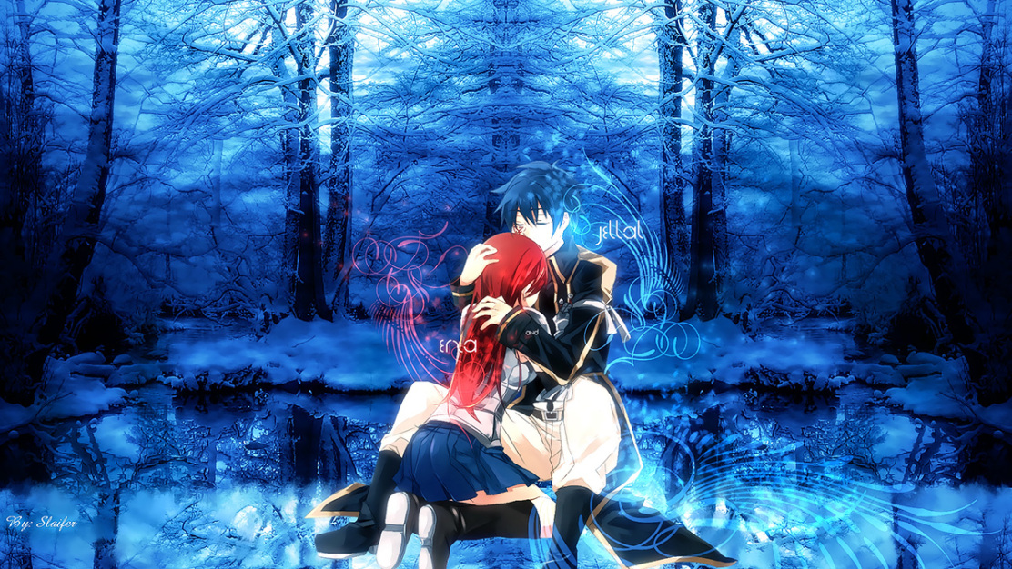 Jellal and Erza Fairy Tail Daily Anime Art 1112x626