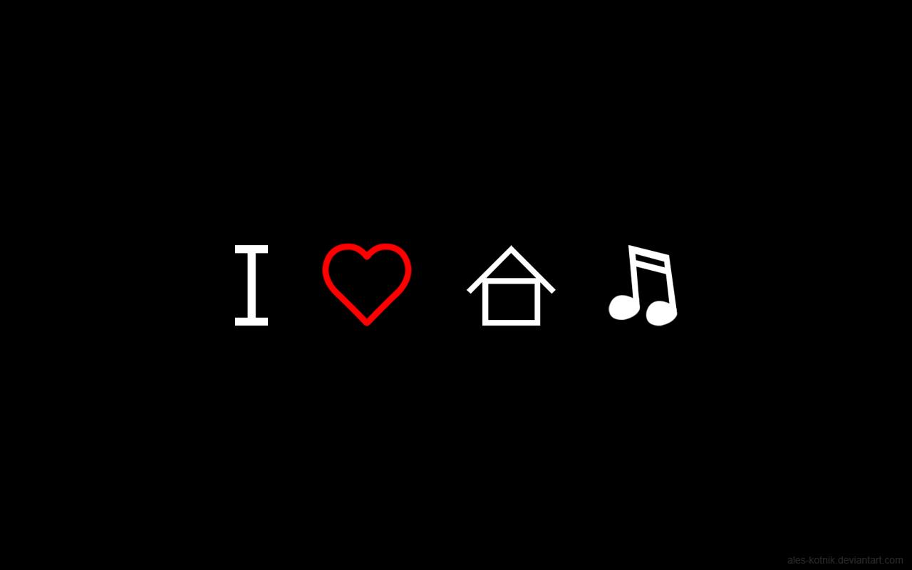 I Love House Music Wallpaper 1280x800 ID30332 1280x800