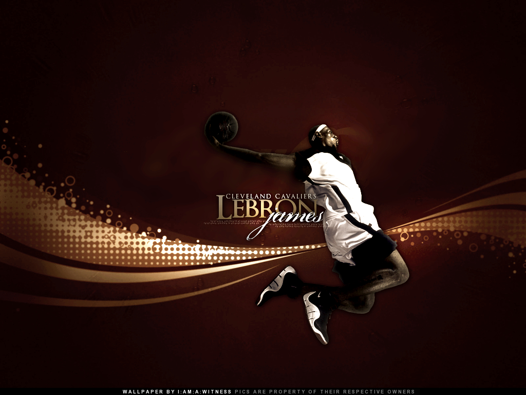 LeBron James by witnessGFX 1024x768