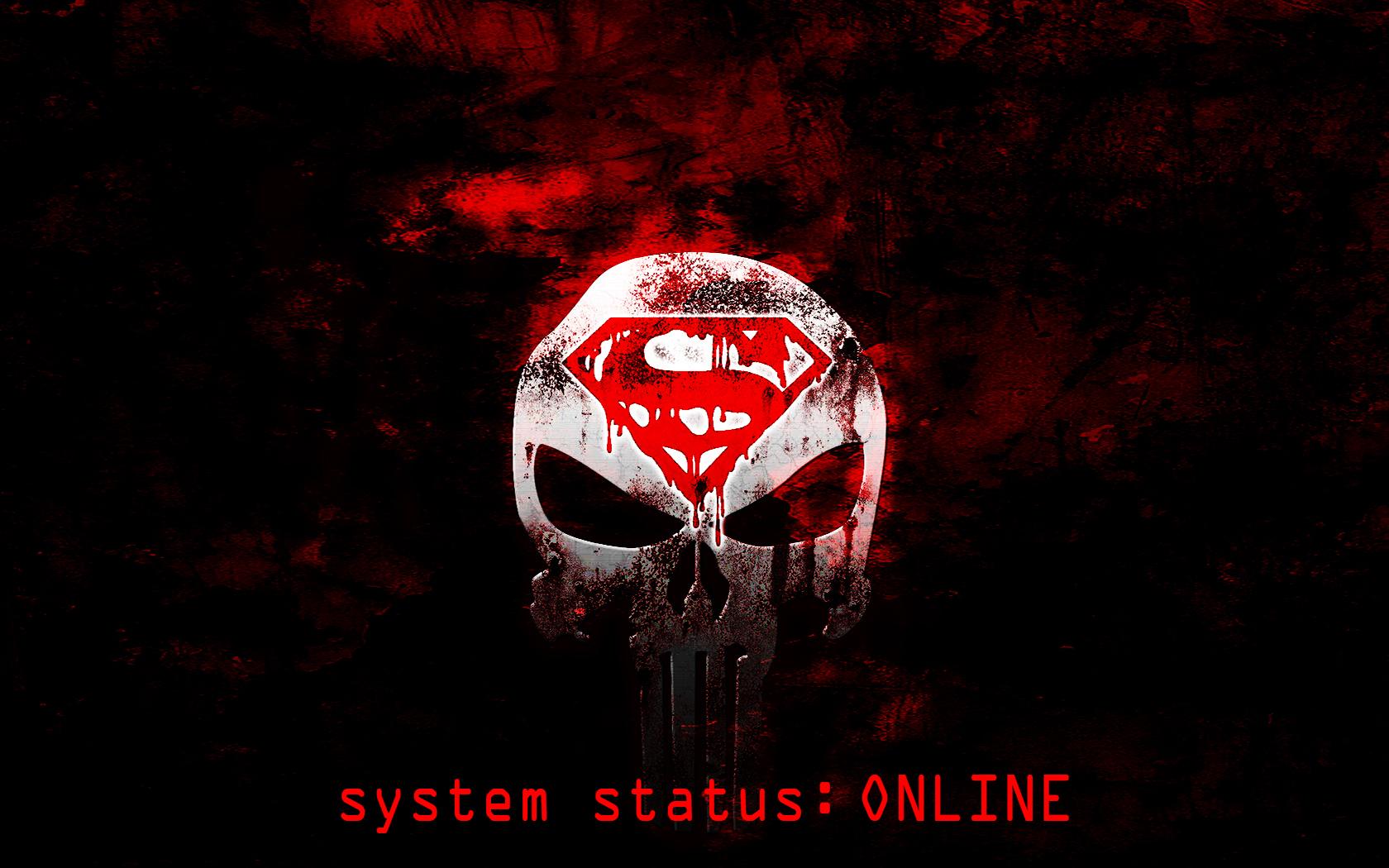 Superman/Punisher logo Wallpaper ONLINE by s1nwithm3 on DeviantArt