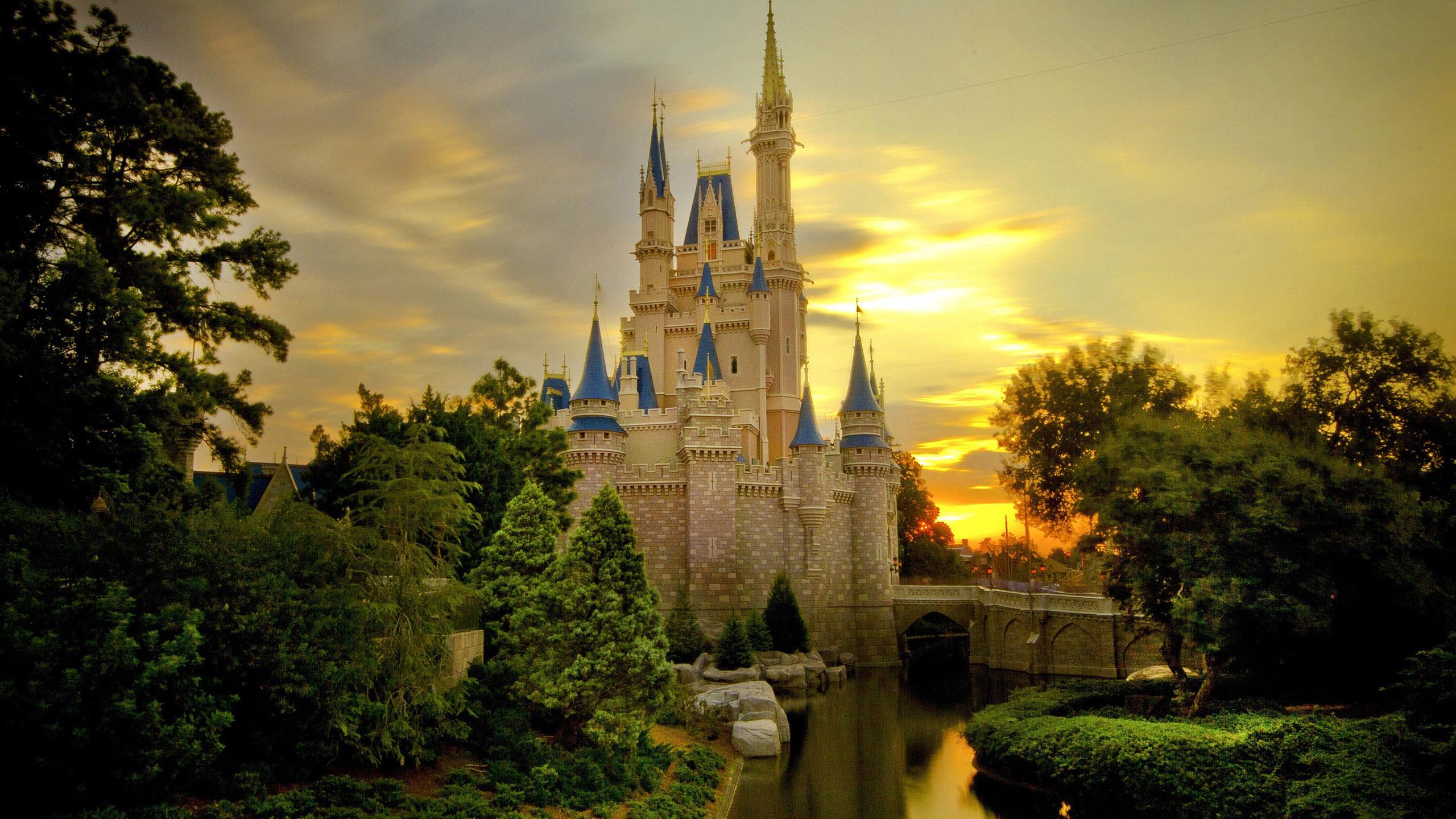 Download Disney Castle Backgrounds 2560x1440