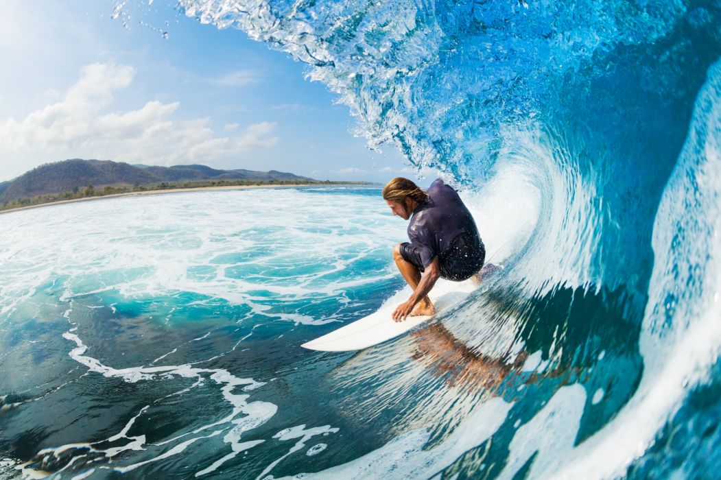 Surfing surf ocean sea waves extreme surfer 39 wallpaper 1051x700