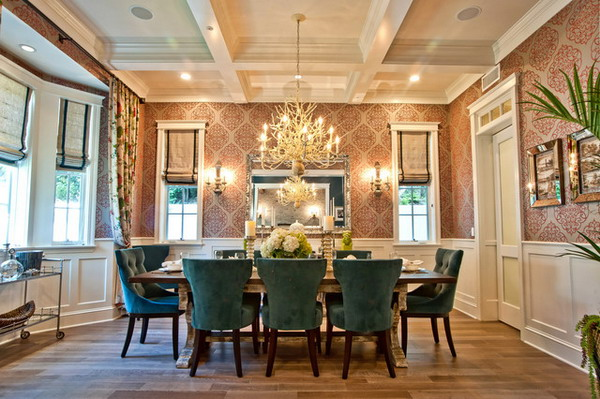 Dining Room Ideas with Wallpaper Decor Accomplish the Right Dining 600x399