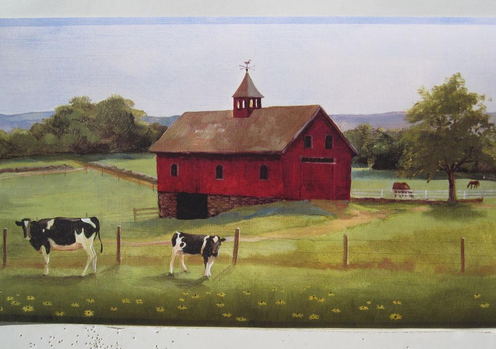 Farm Barns Cows Country Wallpaper Border 9 eBay 1000x704