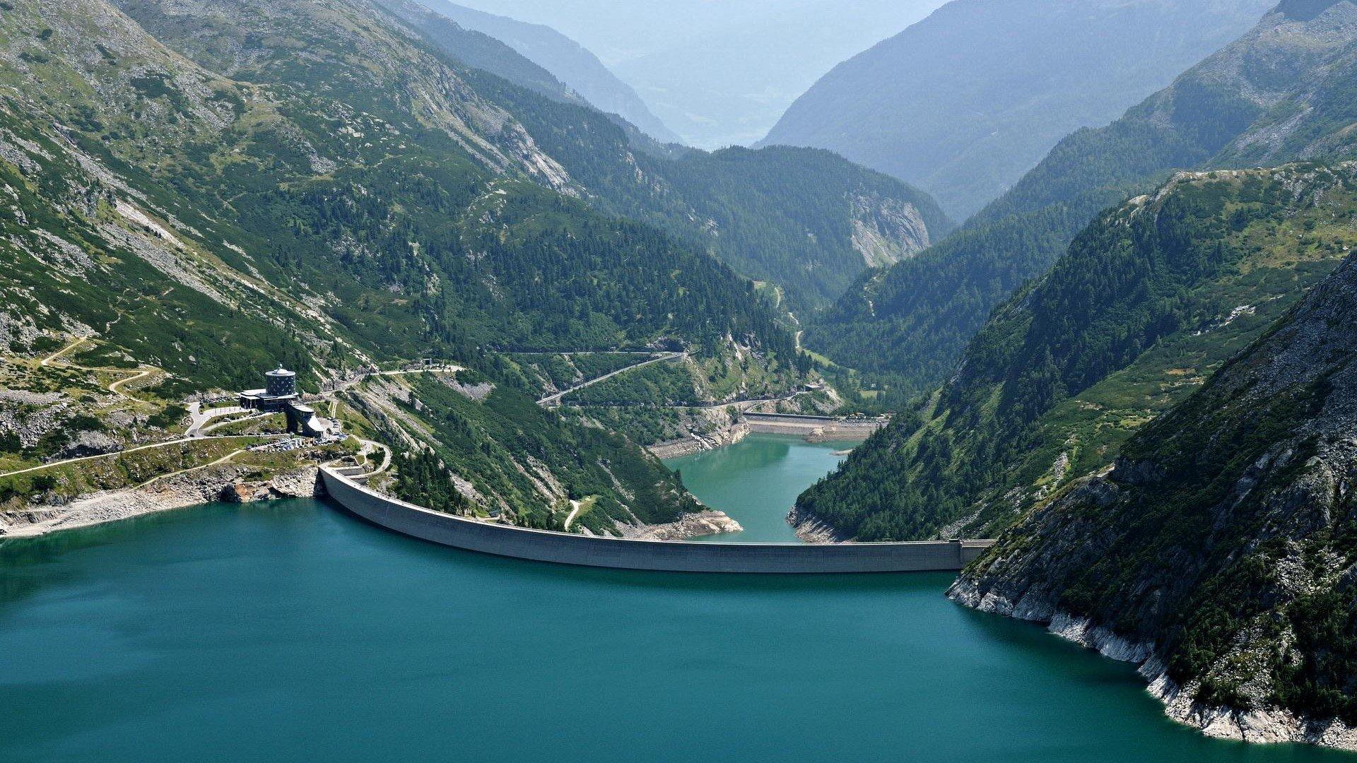 Carinthia Dam Austria HD wallpaper 1920x1080