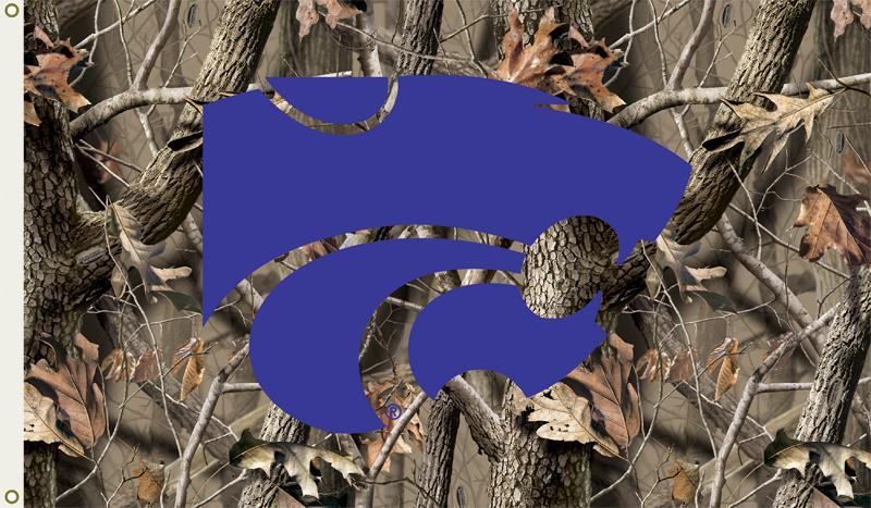REALTREE CAMO 3X5 K STATE Kansas State Wildcats 3 Ft X 5 Ft Flag W 800x467