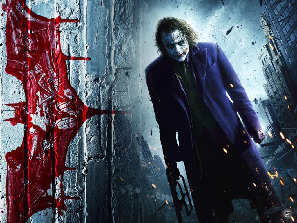 Dark Knight Heath Ledger Stranger Wallpaper 1024x768