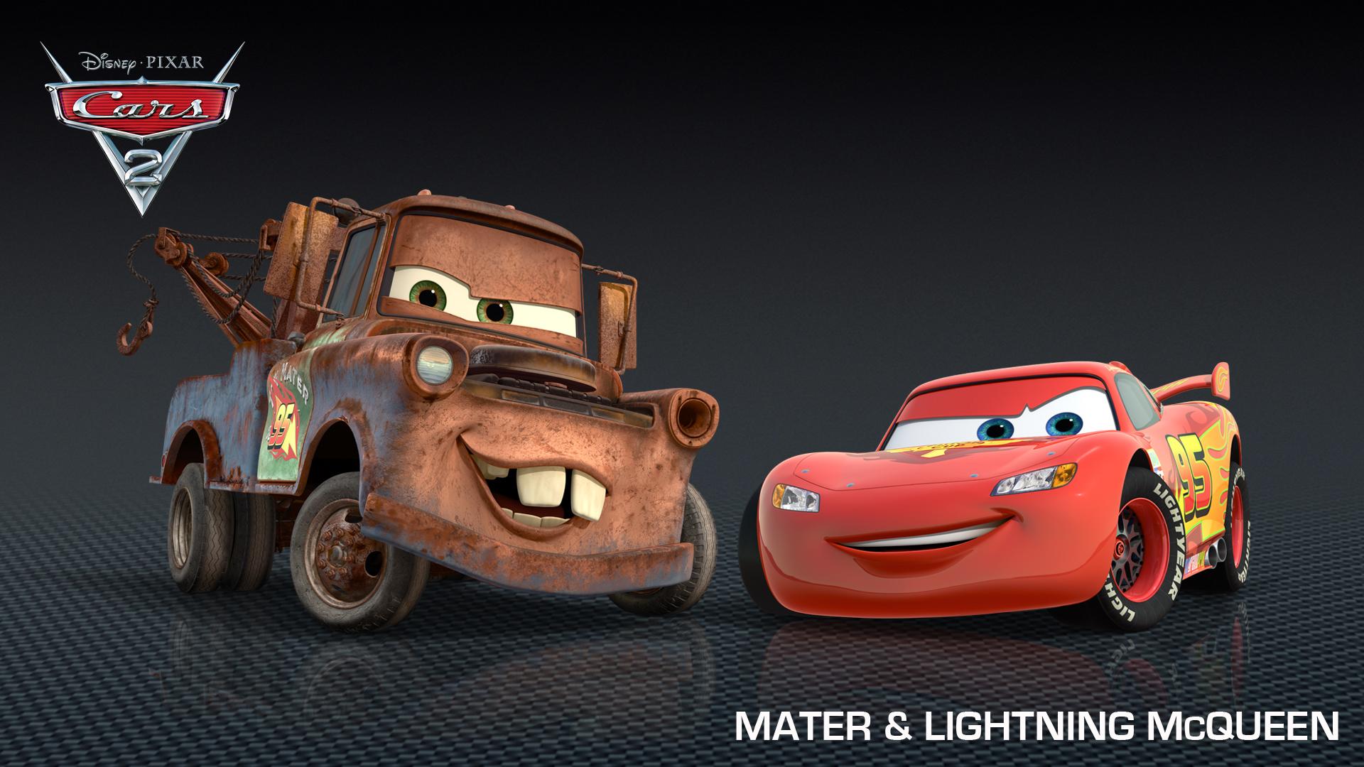 Download mater lightning mcqueen from cars 2 HD wallpaper 1920x1080