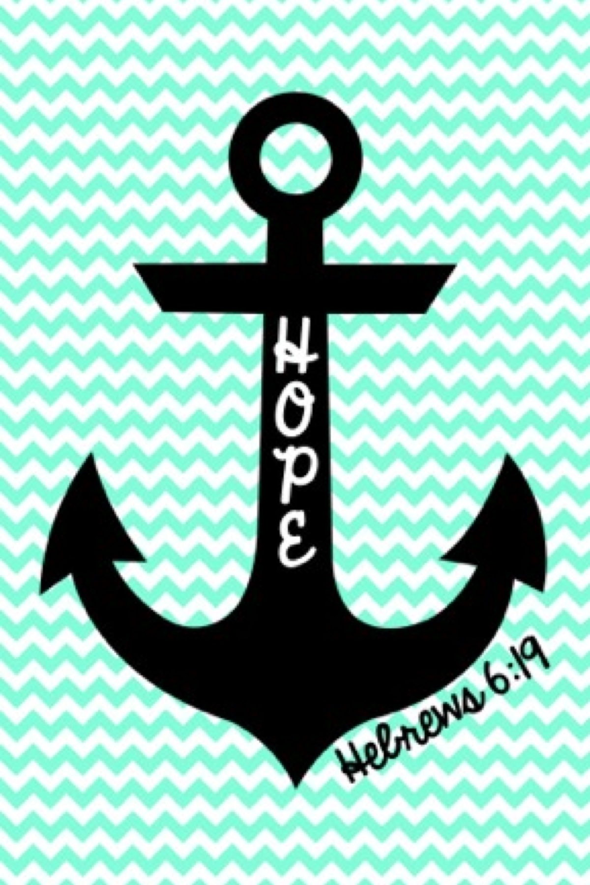 Cute anchor on chevron wallpaper 1200x1800