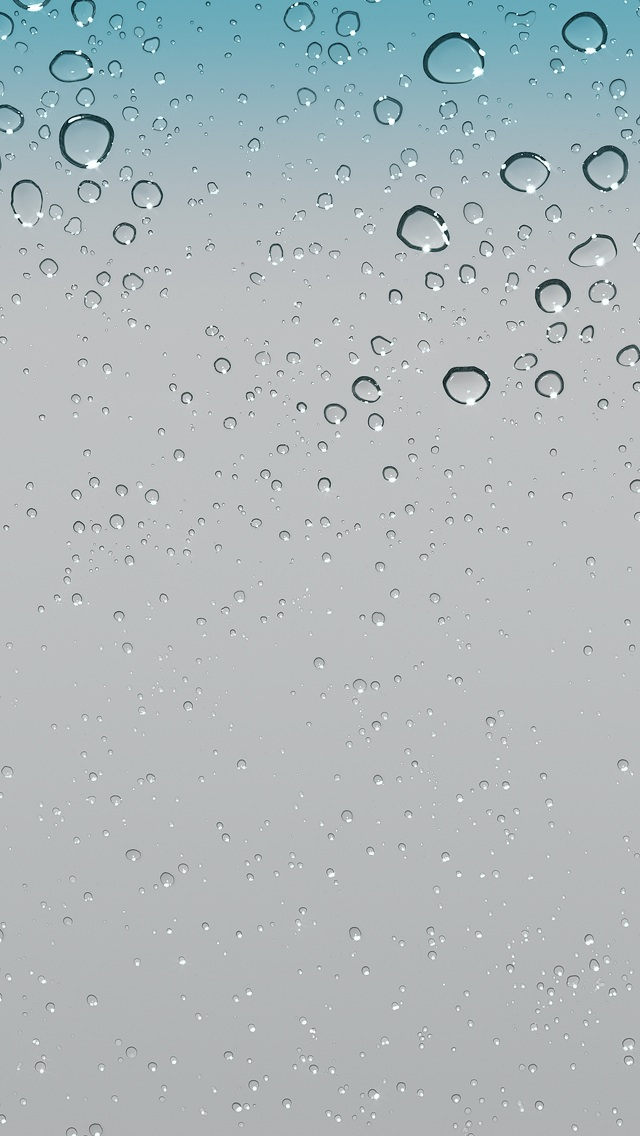 IOS 5 Water Drops Raindrop Default Hd IPhone Wallpaper And Background 640x1136