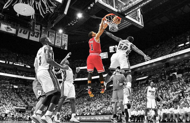 derrick rose wallpaper dunk - photo #15
