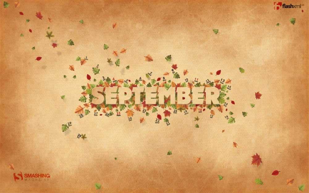 Desktop Wallpaper Calendar September 2011 Smashing Magazine 1000x625