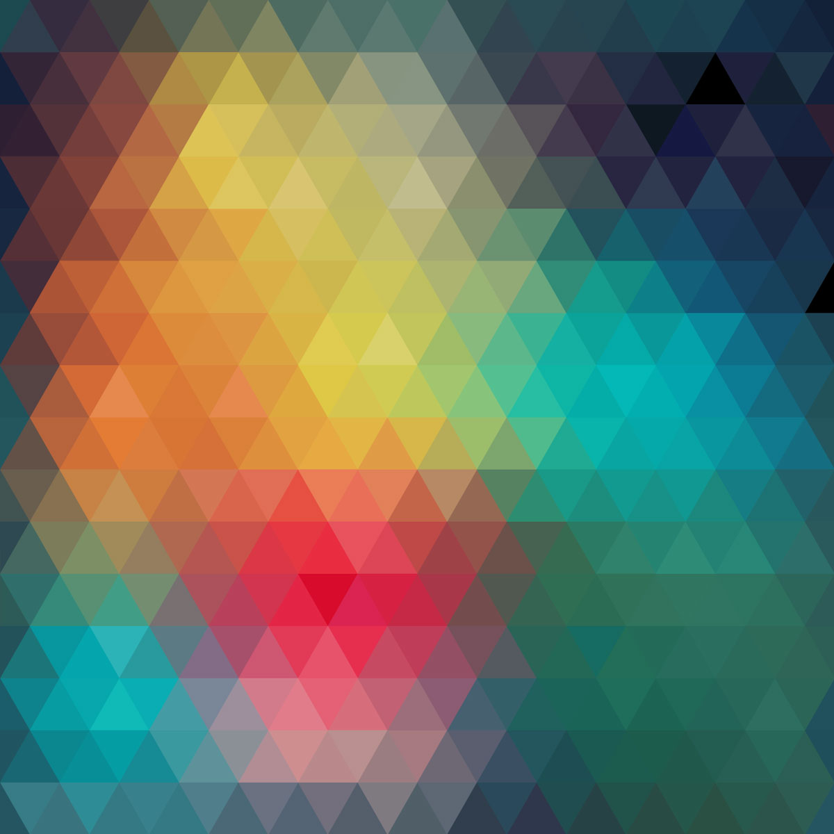 Colorful triangles arranged in decorative abstract background in the 1200x1200