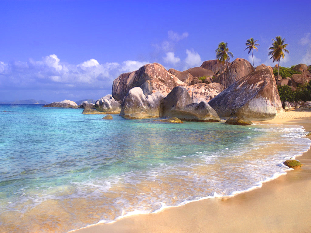 Tropical Island Wallpaper HD Backgrounds Images Pictures 1024x768
