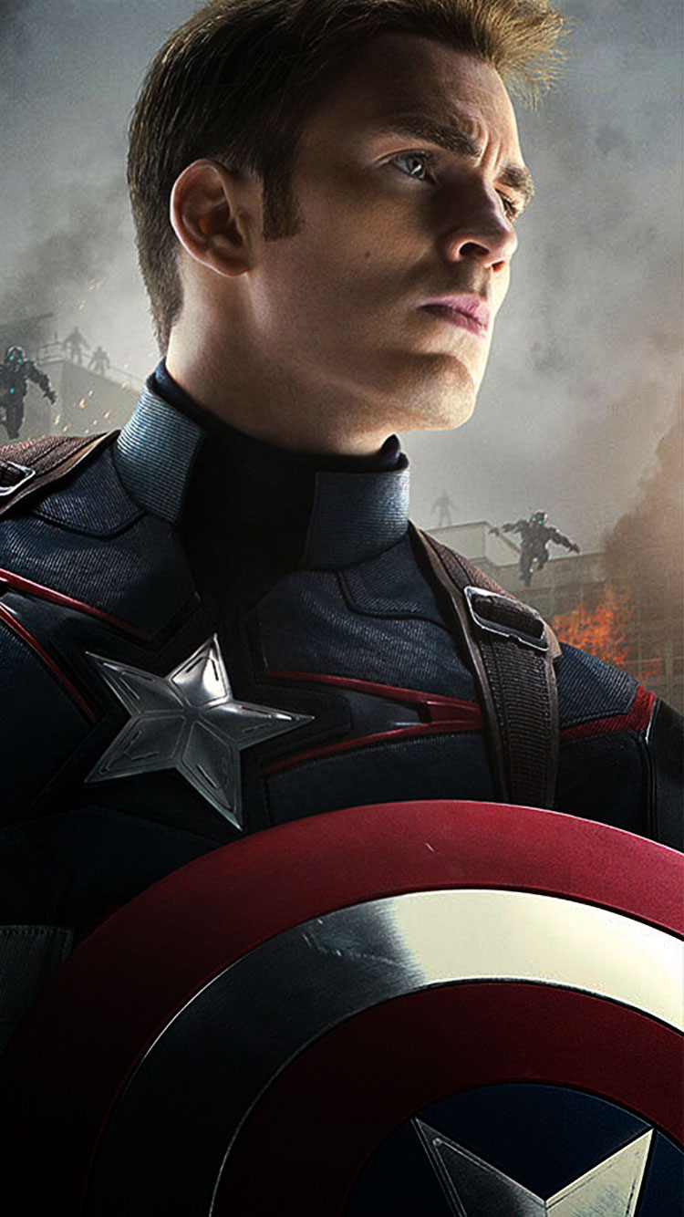 Captain America Phone Wallpaper 750x1334