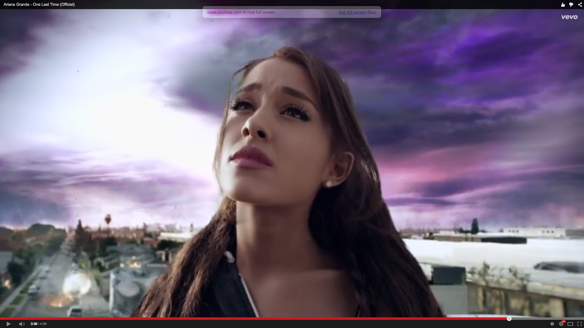 Watch Ariana Grandes Catastrophic One Last Time Video Rolling 1920x1080