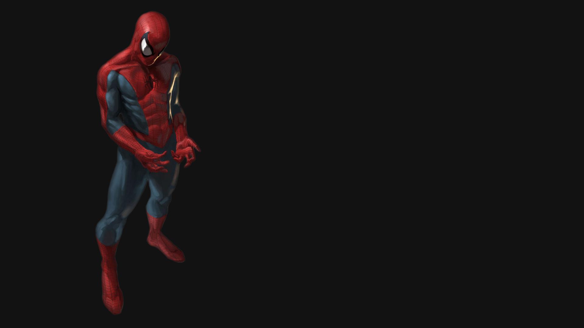 Spider man Black Wallpaper 1920x1080 Spiderman Black Background 1920x1080